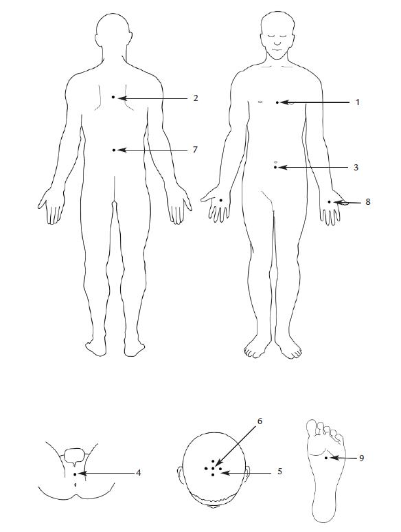 Схема точек ко главе 2: